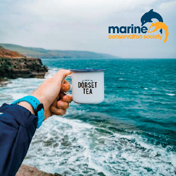 cup of Dorset Tea in UK coastline in support of Marine Conservation Society