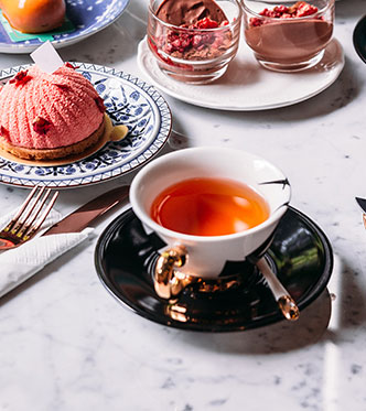 Tea pairing with variety of sweet and savory food